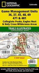 Collegiate Peaks, Eagles Nest, and Holy Cross Wilderness Areas GMU [Map Pack Bundle]