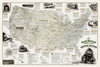 Railroad Legacy Map of the United States [Boxed]