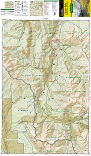 Maroon Bells, Redstone, Marble trail map full page