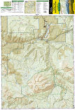 Kebler Pass, Paonia Reservoir trail map full page