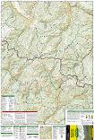 Weminuche Wilderness trail map full page