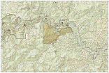 Buffalo National River West trail map full page