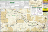 Badlands National Park trail map full page