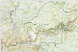 Yosemite NW Hetch Hetchy trail map full page