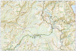 Yosemite NE: Tuolumne Meadows and Hoover Wilderness trail map full page