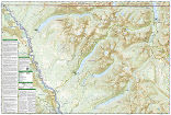North Fork: Glacier National Park trail map full page