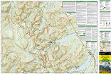 Many Glacier: Glacier and Waterton Lakes National Parks trail map full page