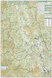 Missoula, Mission Mountains trail map full page