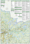 Boundary Waters West trail map full page