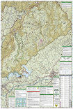 Linville Gorge, Mount Mitchell trail map full page