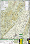 Massanutten and Great North Mountains trail map full page