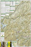 Tahoe National Forest West trail map full page