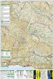 Los Padres National Forest West trail map full page