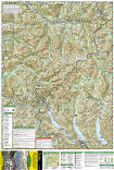 Alpine Lakes Wilderness trail map full page
