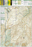 Mazatzal and Pine Mountain Wilderness Areas trail map full page