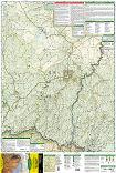 Mogollon Rim, Munds Mountain trail map full page