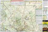 Flagstaff, Sedona trail map full page